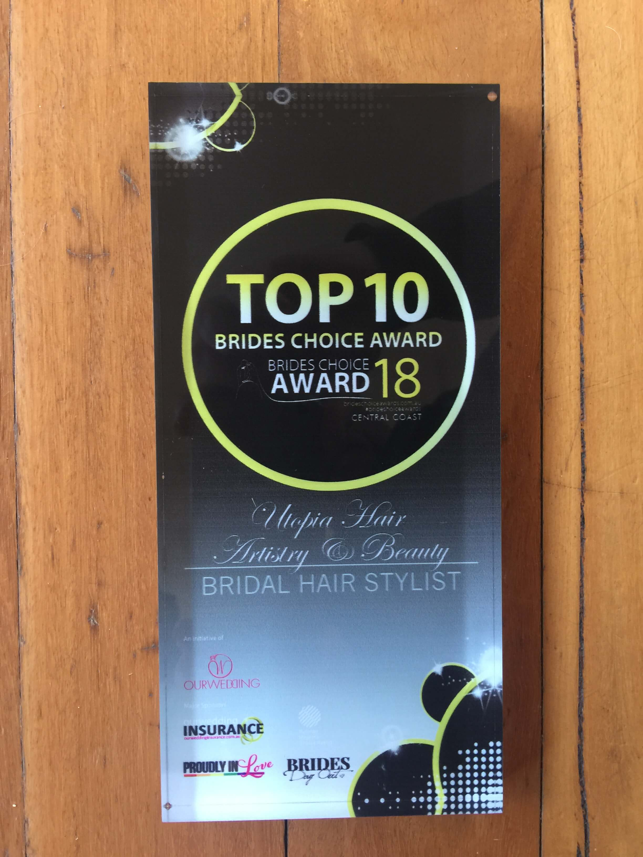 Utopia Hair Artistry and Beauty - Top 10 Bride Choice Award 2018